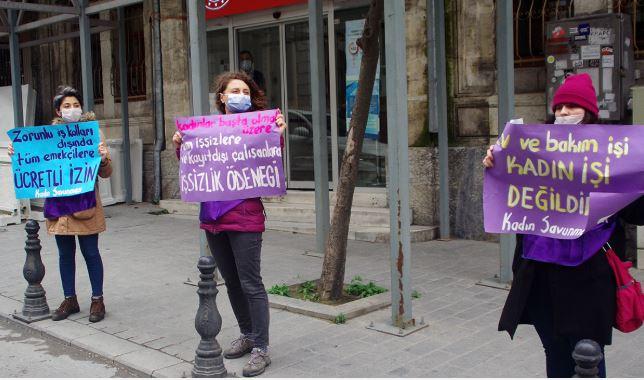 Kadınlardan 'zorunlu' eylem: Ekonomik şiddete son verin, kadınları koruyun!