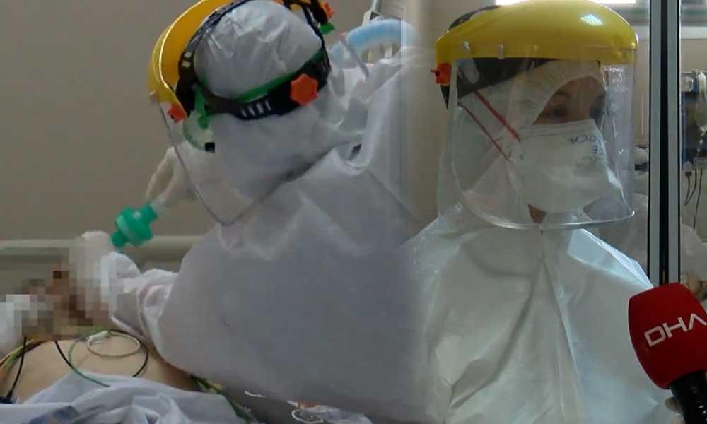 Yoğun bakımda görüntülendiler… İşte sağlık emekçilerinin kan ter içinde çalıştığı anlar
