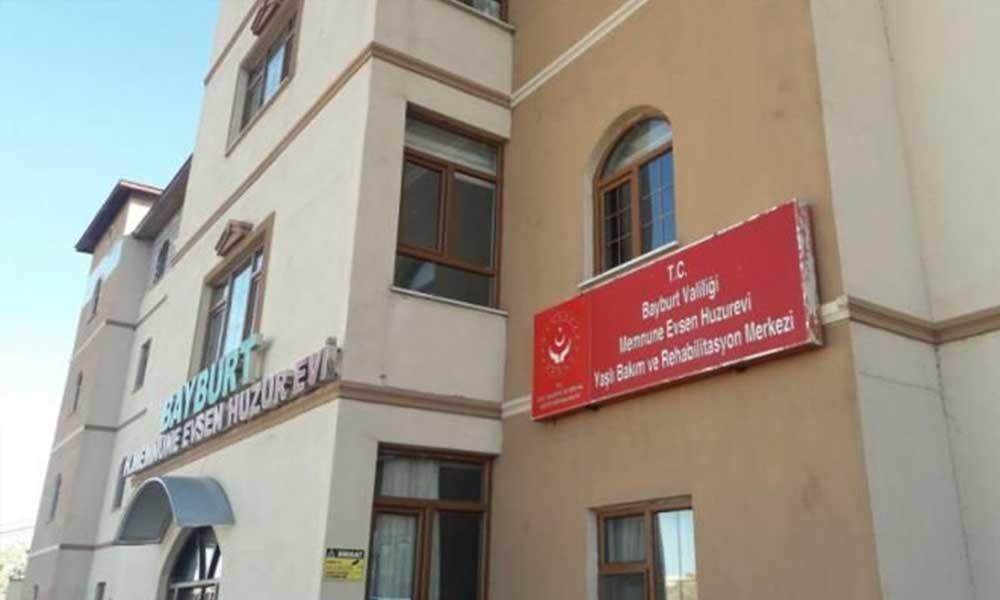 Bayburt'taki huzurevinde koronavirüs paniği