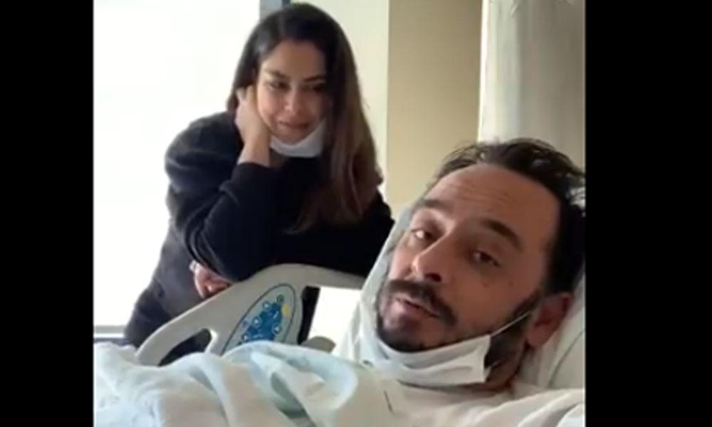 Koronavirüs tedavisi gören Burak Akkul hastaneden video paylaştı: Yendim seni korona