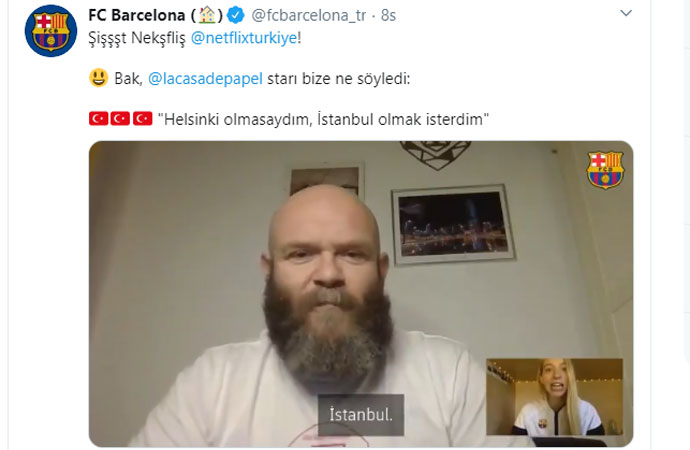 La Casa de Papel'de Helsinki'nin tercihi İstanbul