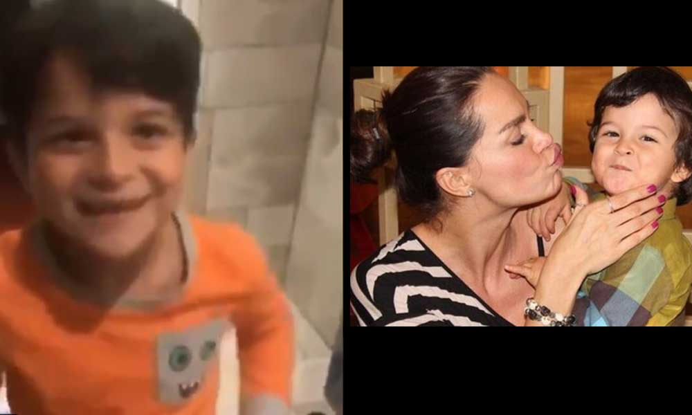 Ebru Şallı'nın oğlunun yürek sızlatan videosu!