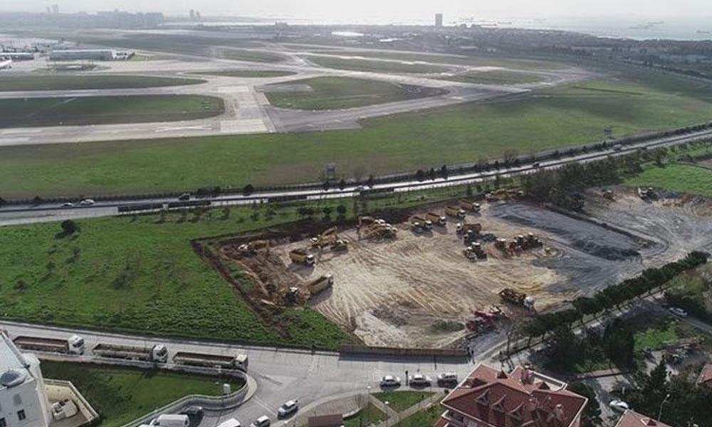 Erdoğan'ın 'Atatürk Havalimanı'na yapılacak' dediği hastane Milli Emlak'a ait araziye yapılıyor