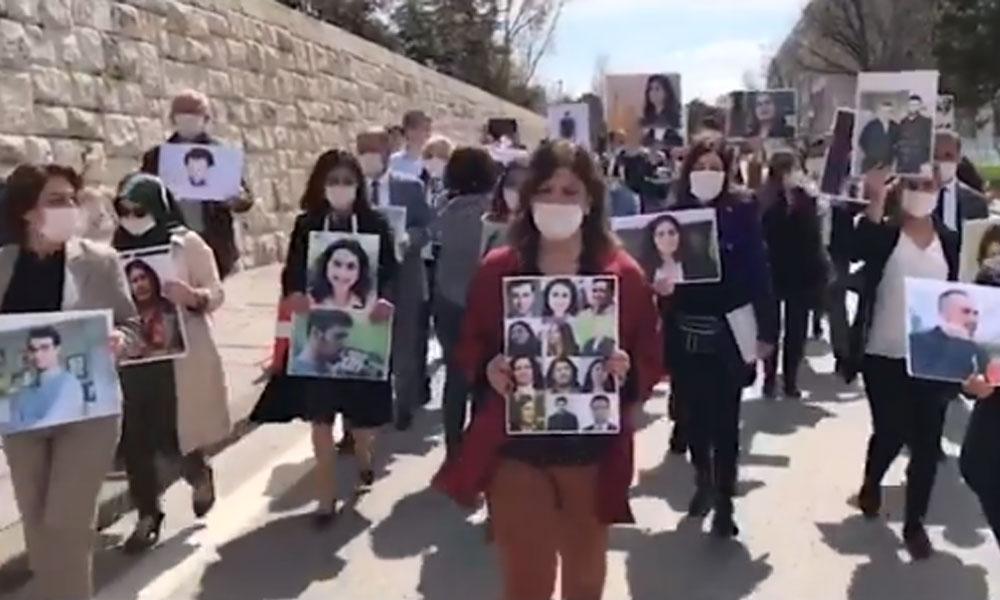 HDP'li vekiller Meclis'te yürüyüş yaptı: İnfazda eşitlik istiyoruz