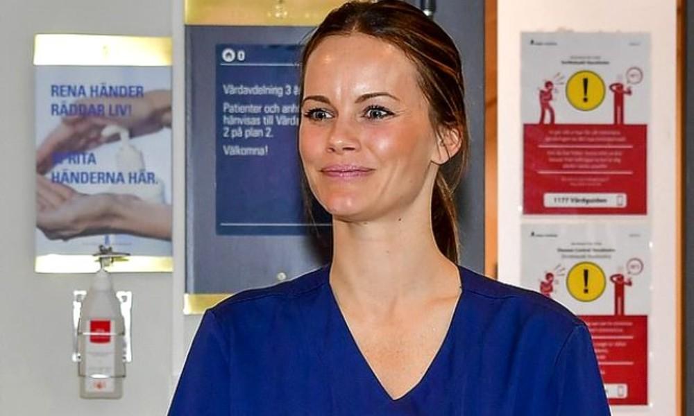 İsveç Prensesi 3 günlük eğitim aldı, koronavirüsle mücadeleye katıldı