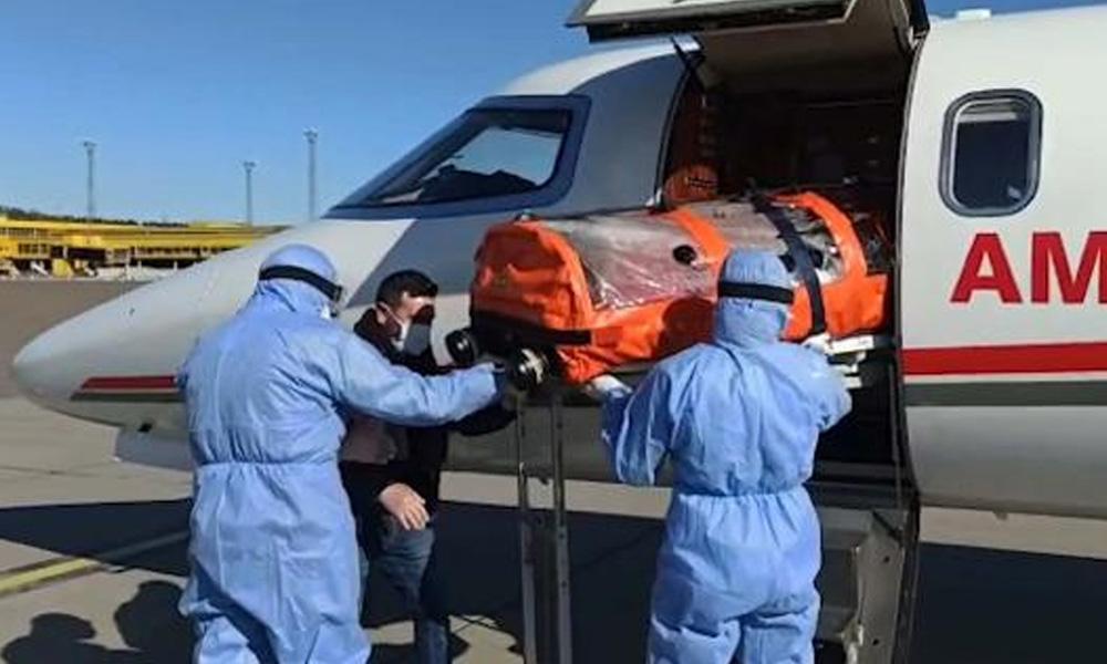 Ambulans uçağın arkasından Katar çıktı