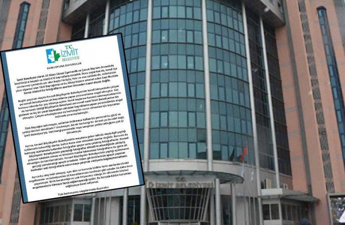 AKP'li belediye CHP'li belediyenin 23 Nisan için astığı Türk Bayrakları'nı indirdi