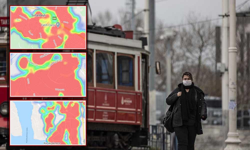 İşte İstanbul'un semt semt koronavirüs haritası