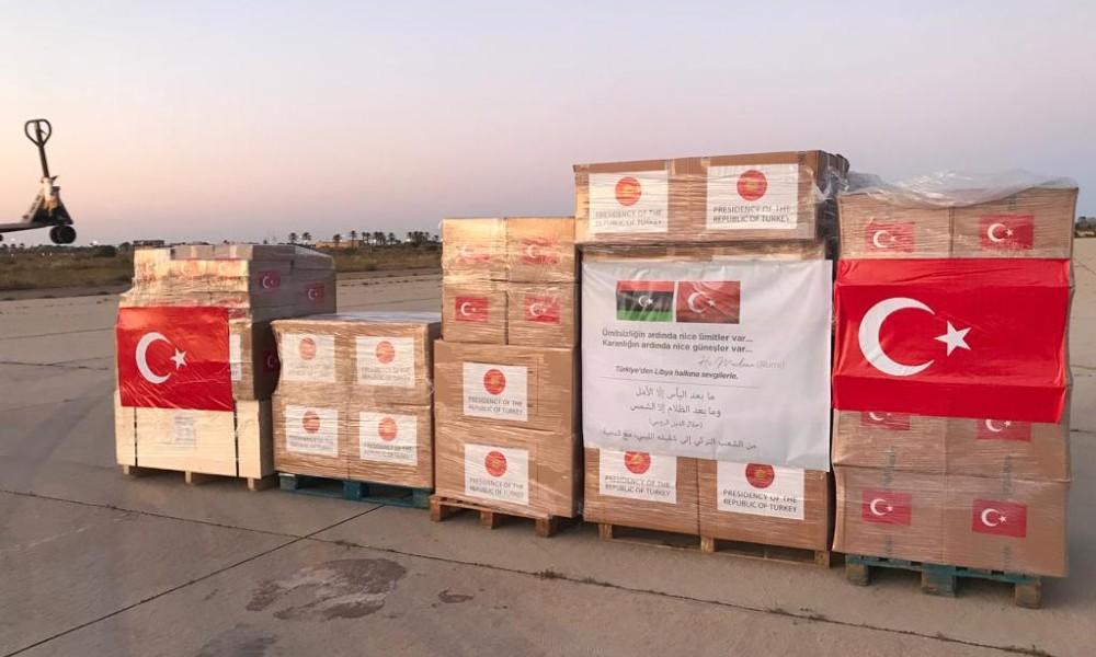 Libya'ya da sağlık malzemesi gönderildi