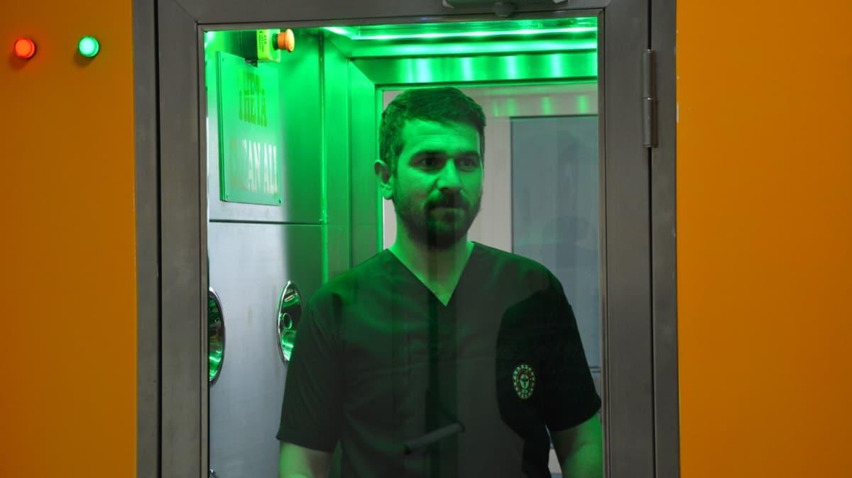 Malatya'da virüs ve bakterileri temizleyen kabin üretildi