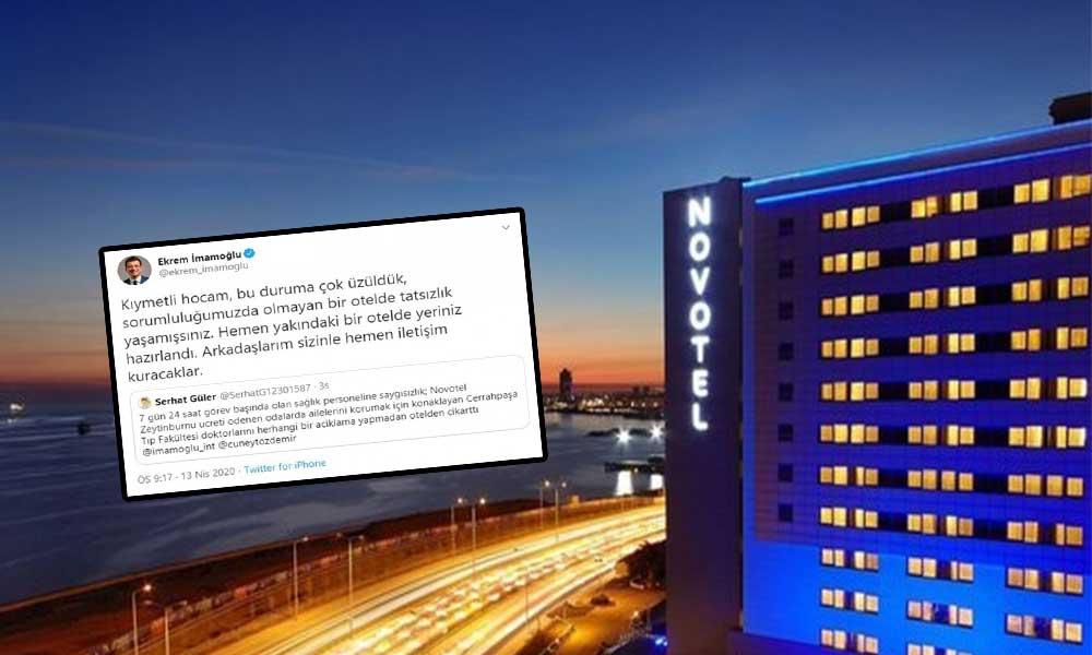 Sağlık çalışanları zorla otelden çıkarıldı, Ekrem İmamoğlu skandala el koydu