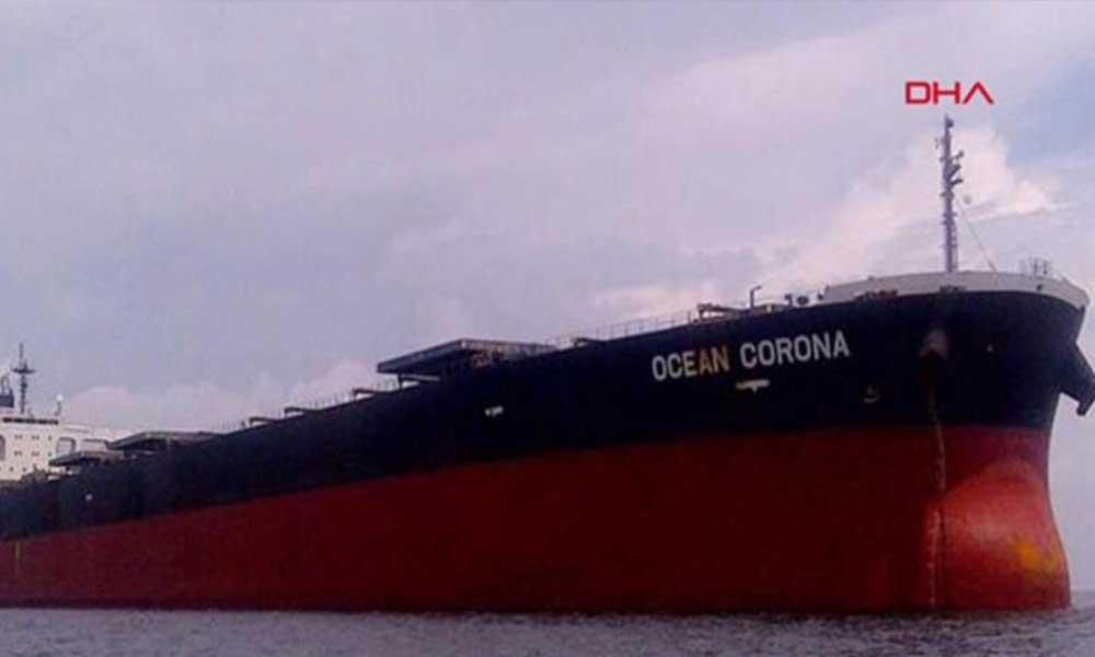 İstanbul Boğazı'ndan 'Corona' geçti