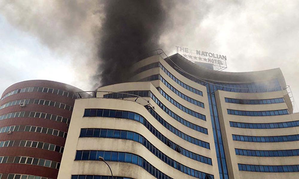 Gaziantep'te 11 katlı otelde yangın!
