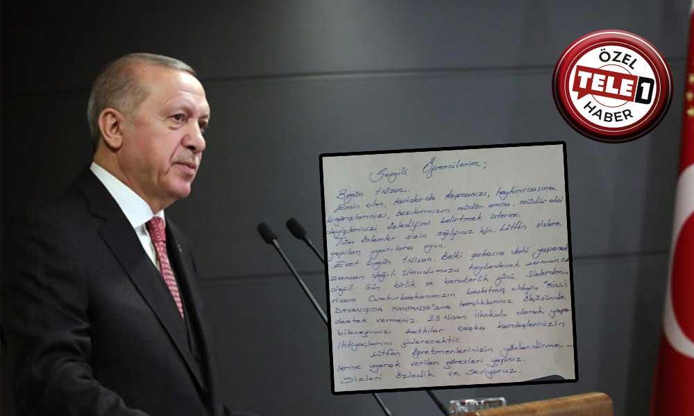 Okul müdürü, Erdoğan'ın başlattığı kampanya için öğrencilerin harçlıklarıyla bağış yapmasını istedi
