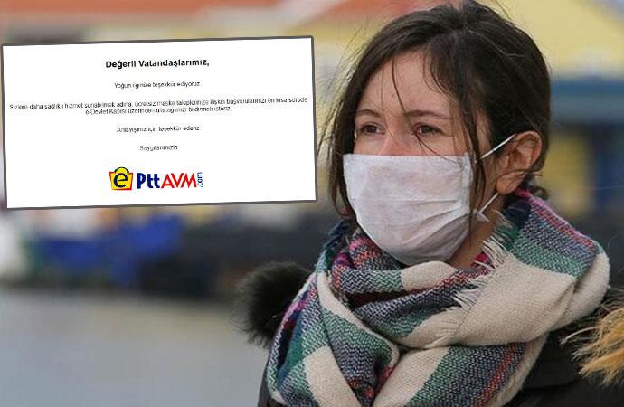 AKP, CHP'yi mi takip ediyor? PTT'nin ücretsiz maske dağıtımında dikkat çeken detay