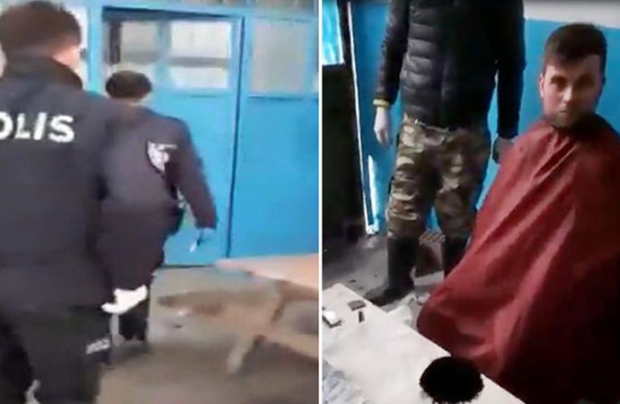 Kaçak saç tıraşına polis baskını