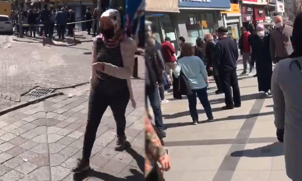 Sosyal mesafe lafta kaldı! Zeytinburnu'nda halk sokağa akın etti