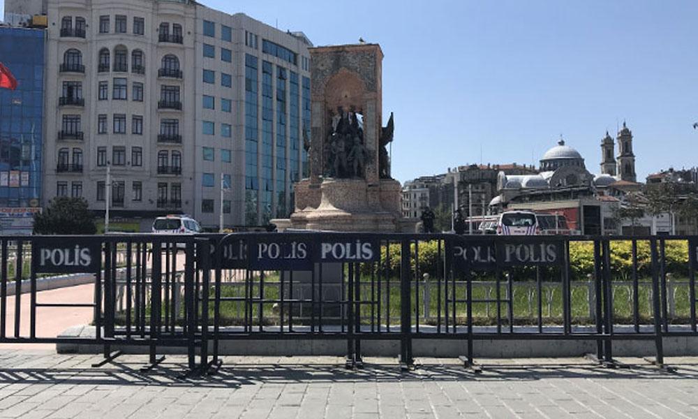 Sokağa çıkma yasağına rağmen… Taksim'de 1 Mayıs ablukası!
