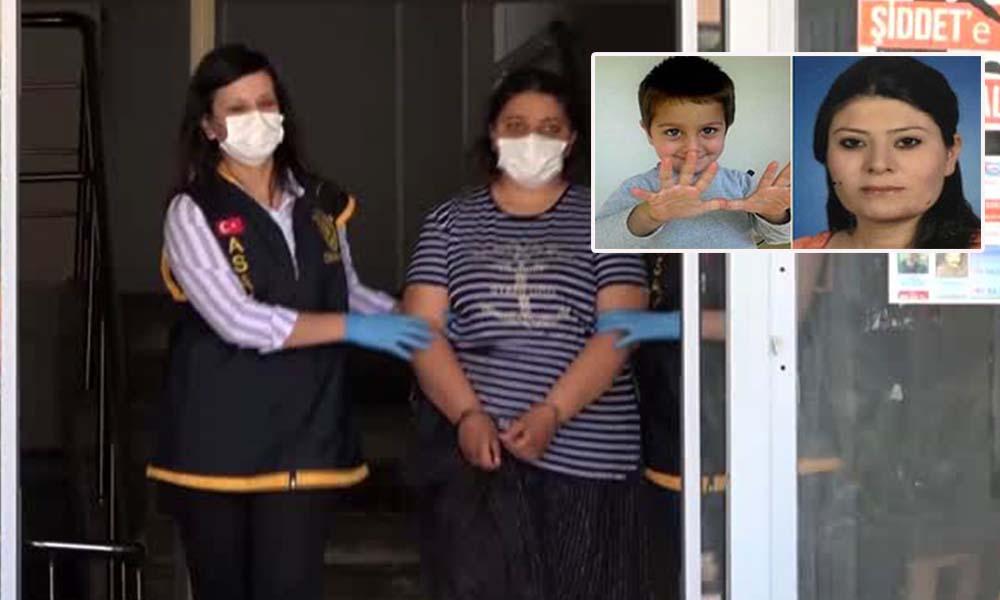 Yedi yaşındaki oğlunun ve yengesinin boğazını kesti