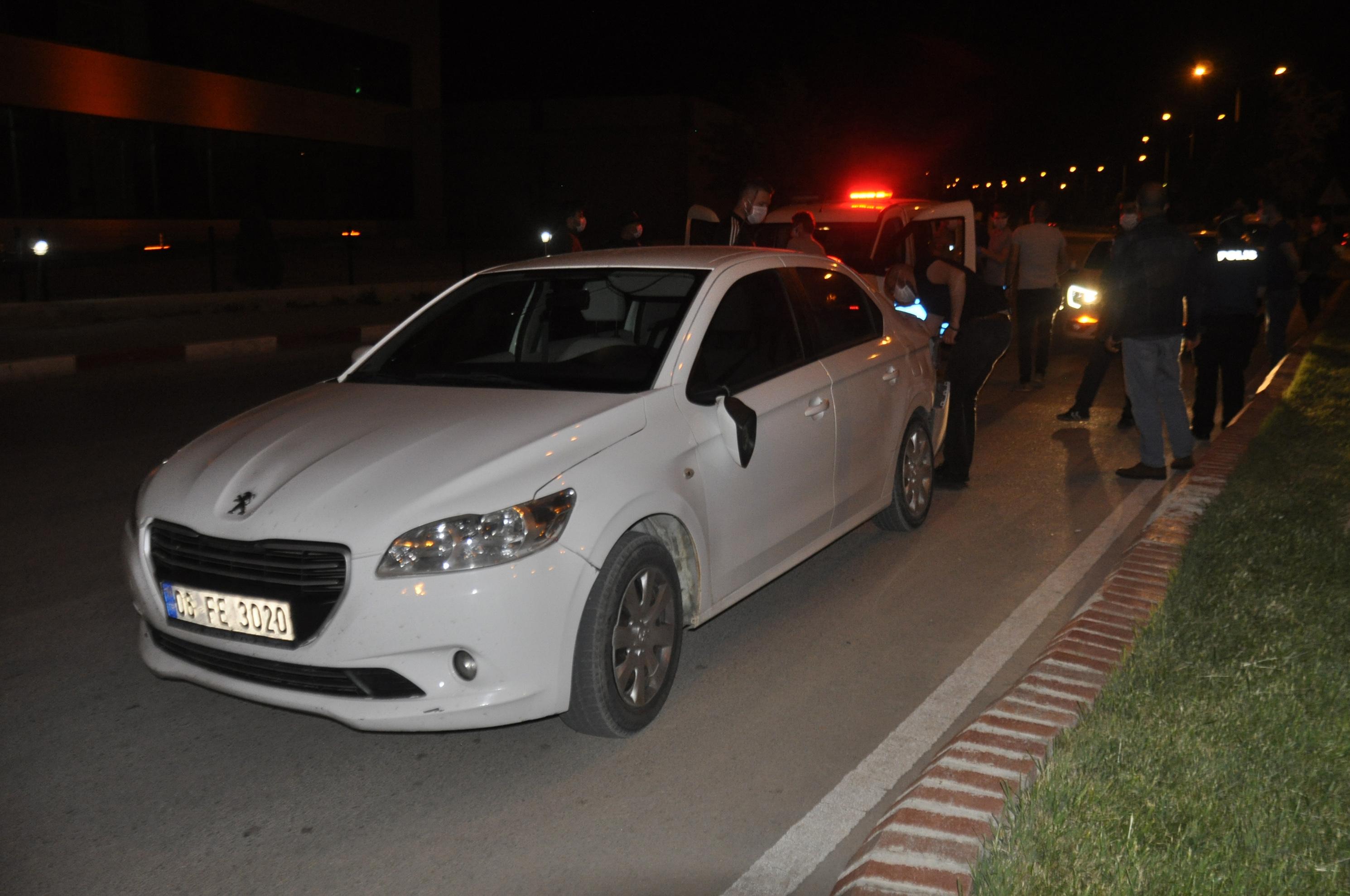 Polisin dur ihtarına uymayan sürücü kaza yaptı!