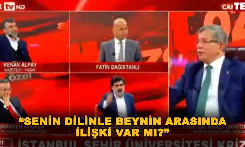 Canlı yayında Davutoğlu ile Akit yazarı arasında büyük tartışma