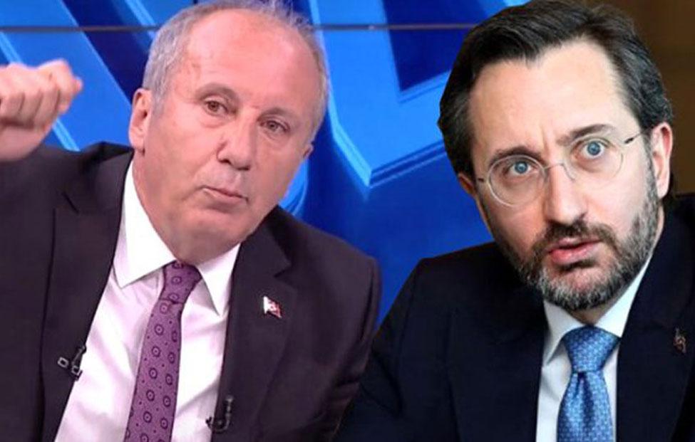 'Sarayın Sözcüsü medyaya Muharrem İnce üzerinden parmak sallıyor'