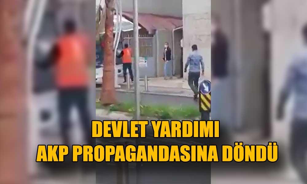 Yardım kolilerini cenaze aracıyla AKP binasına taşıdılar