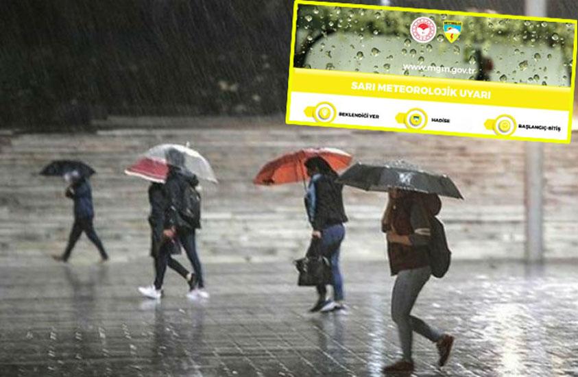 Meteoroloji sarı kod ile uyardı!