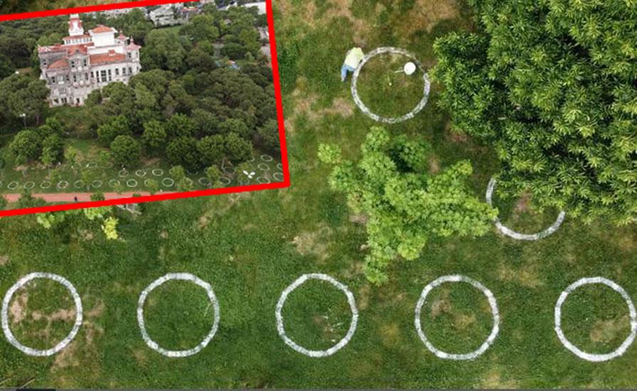 İstanbul'da yeşil alanlarda 'çemberli sosyal mesafe' dönemi