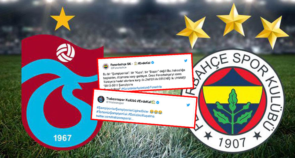 Fenerbahçe ile Trabzonspor arasında '2010-2011 Şampiyonu' atışması