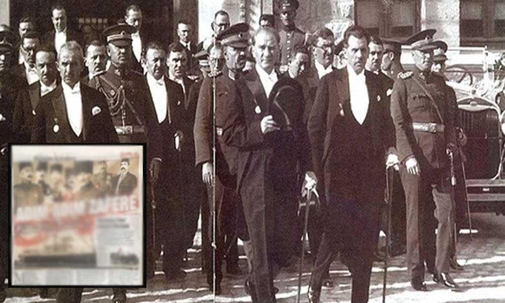 Yandaş Sabah'tan skandal 19 Mayıs haberi: Damat Ferit ve idam fermanını imzalayan Vahdettin, Atatürk'le aynı karede