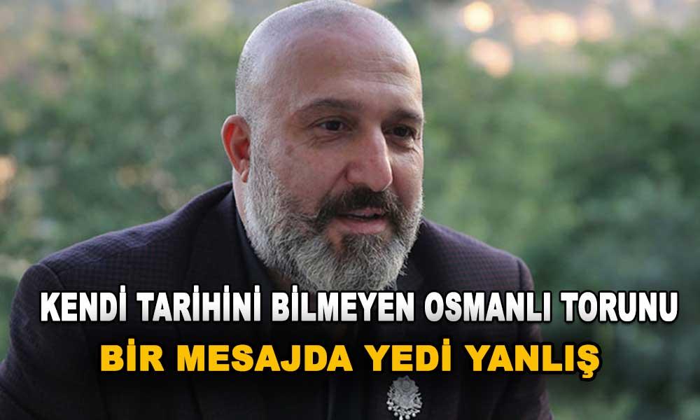 'Osmanlı torunu' Orhan Osmanoğlu tarihi kafasından salladı