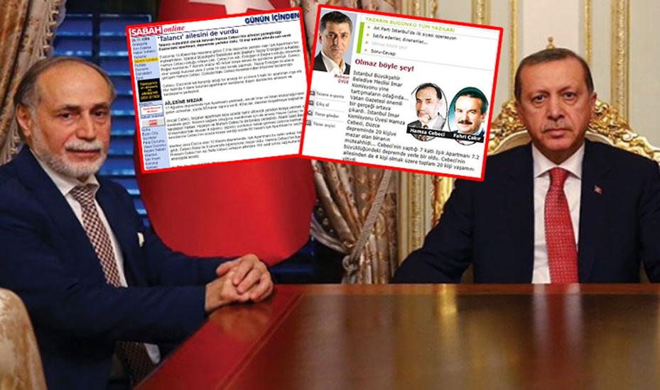 Erdoğan'ın danışmanlığına atadığı isim, 'talancı müteahhit' diye anılıyormuş