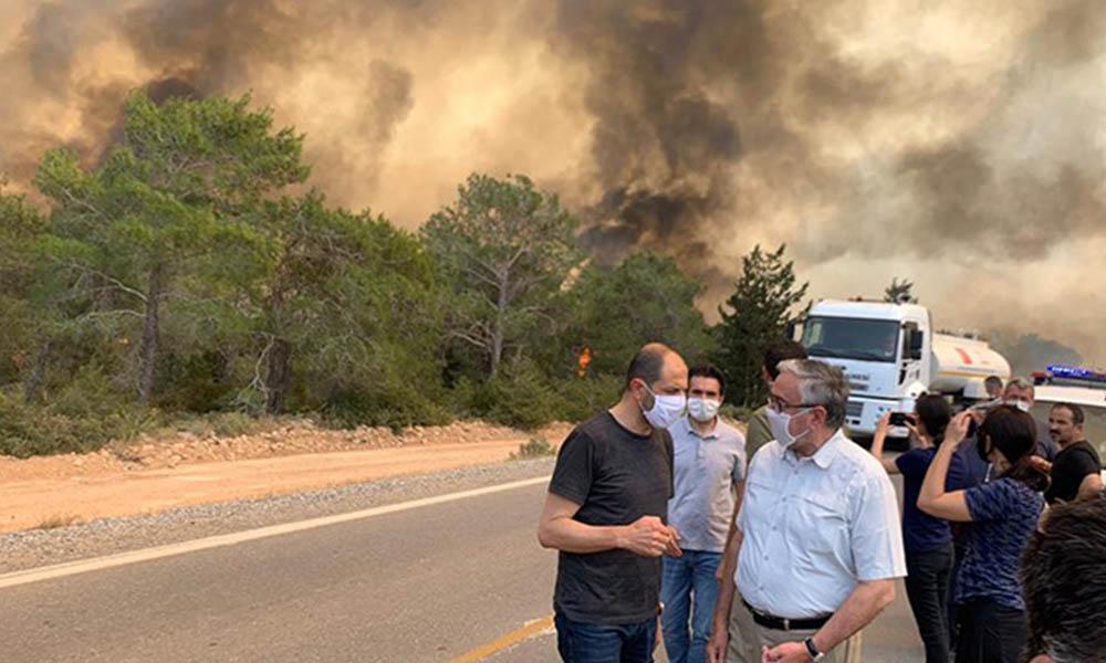 KKTC'de büyük yangın! ODTÜ'ye sıçradı