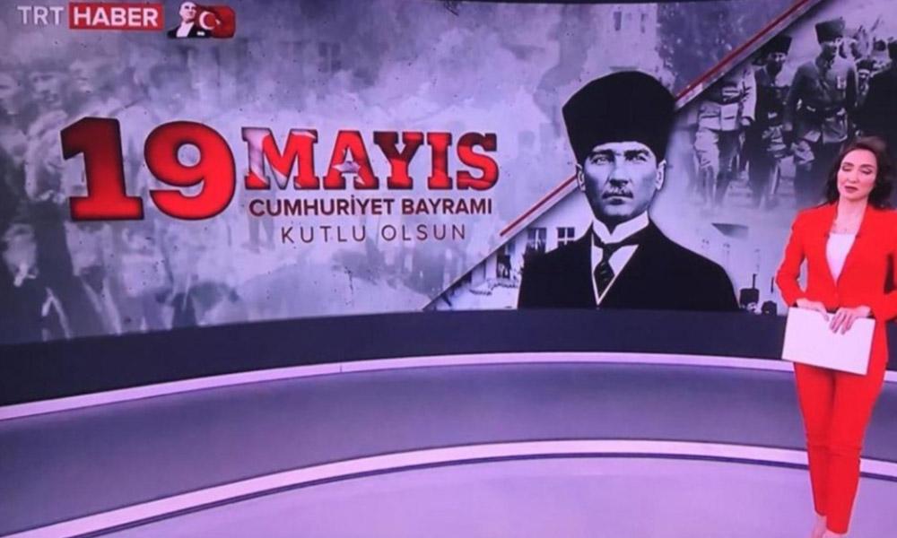 Rezalet! TRT Haber 19 Mayıs'ı 'Cumhuriyet Bayramı' diye kutladı