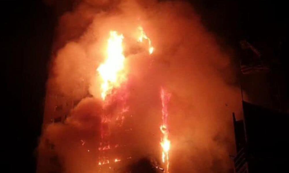 Gökdelende yangın faciası! İşte o görüntüler…