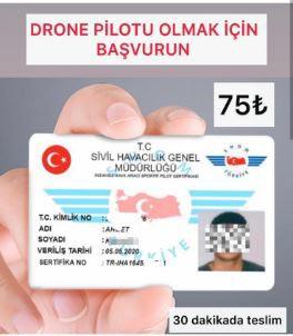 Drone ehliyeti almak isteyenleri dolandırdılar