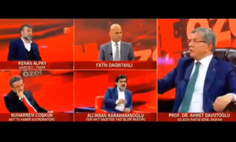 Akit TV'de gergin anlar… Davutoğlu: Dilinizle beyniniz arasında sağlam bir ilişki var mı?