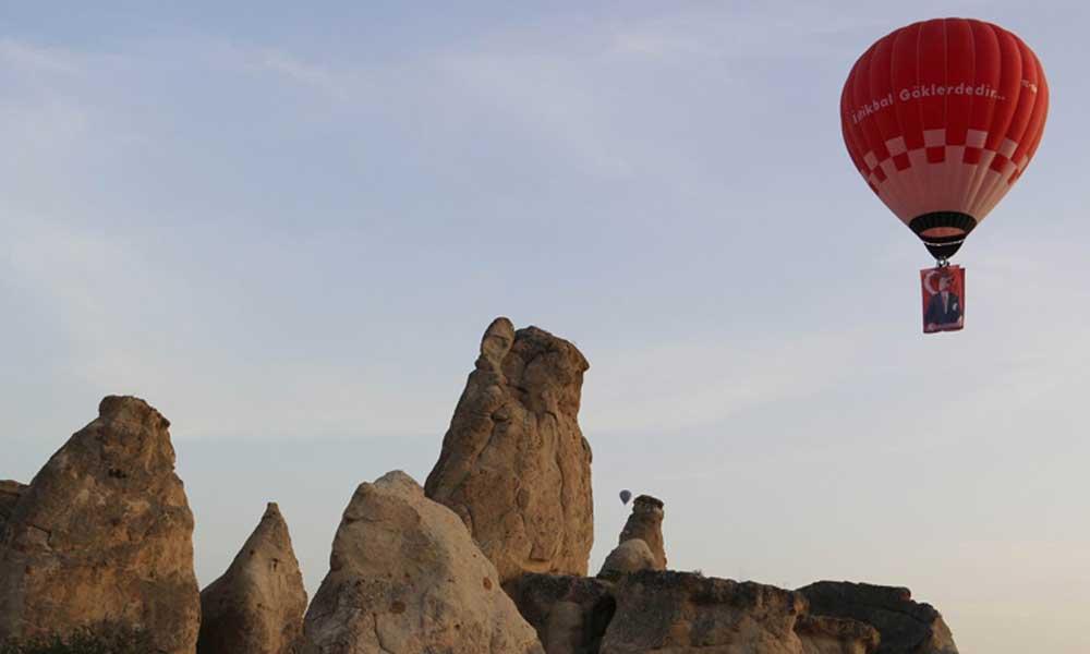 'Yerli ve milli balon' Kapadokya'da havalandı