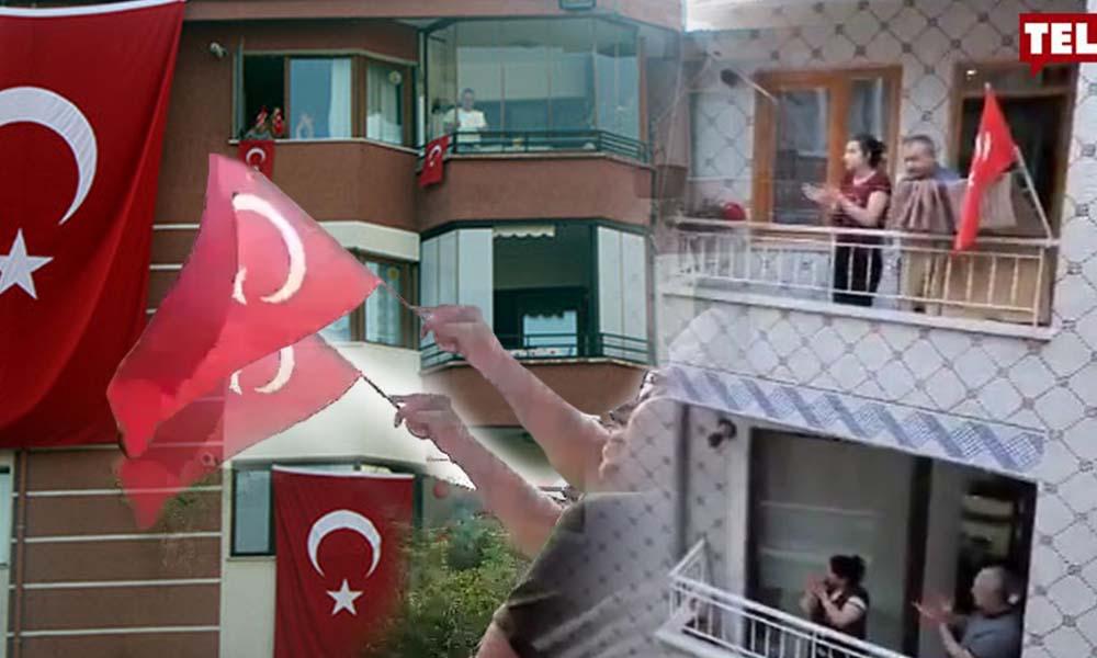 Bayram coşkusu! Tüm Türkiye balkonlarda