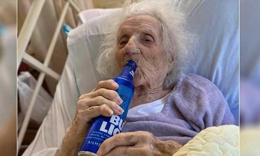 103 yaşında koronavirüsü yenen kadının ilk isteği bira oldu