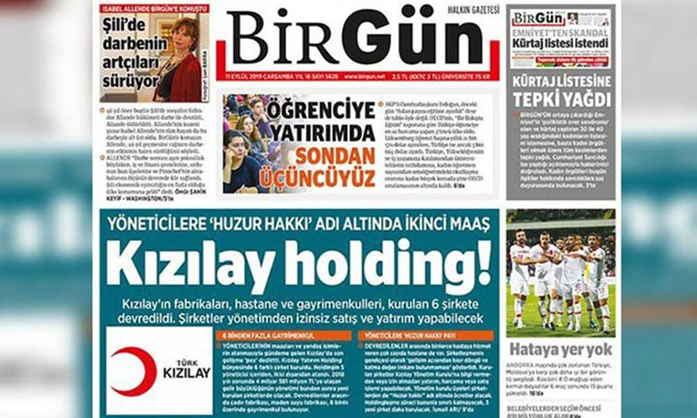 Cumhuriyet'in ardından bir ceza da BirGün Gazetesi'ne
