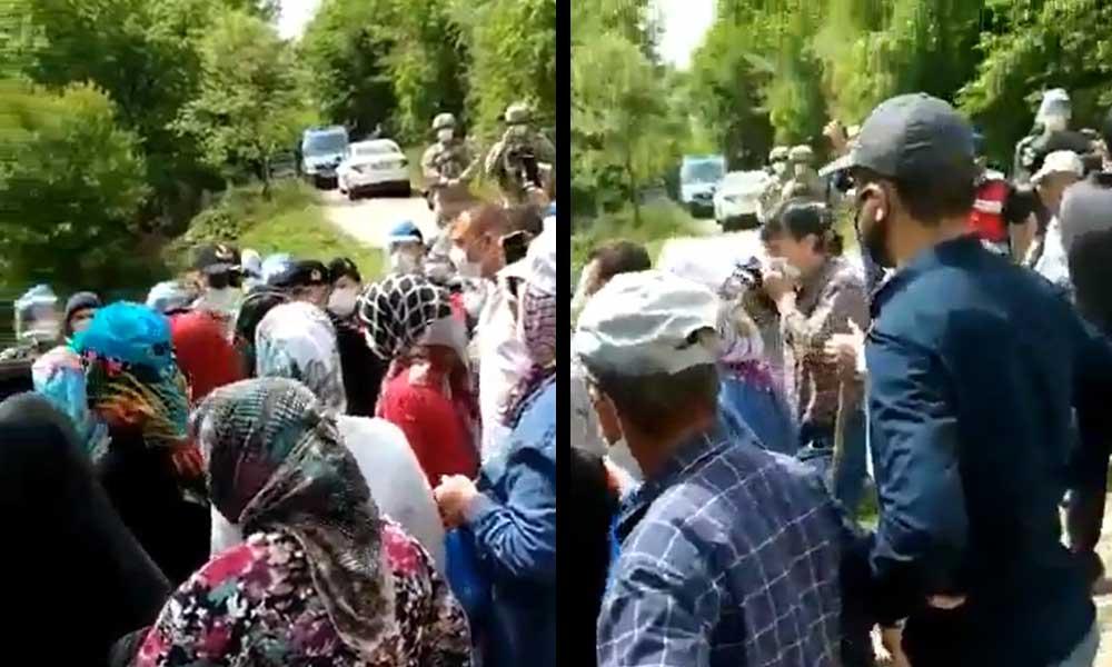 Maden şirketine karşı mücadele sürüyor: CHP'li vekil iş makinesinin önüne geçti, eşi gözaltına alındı