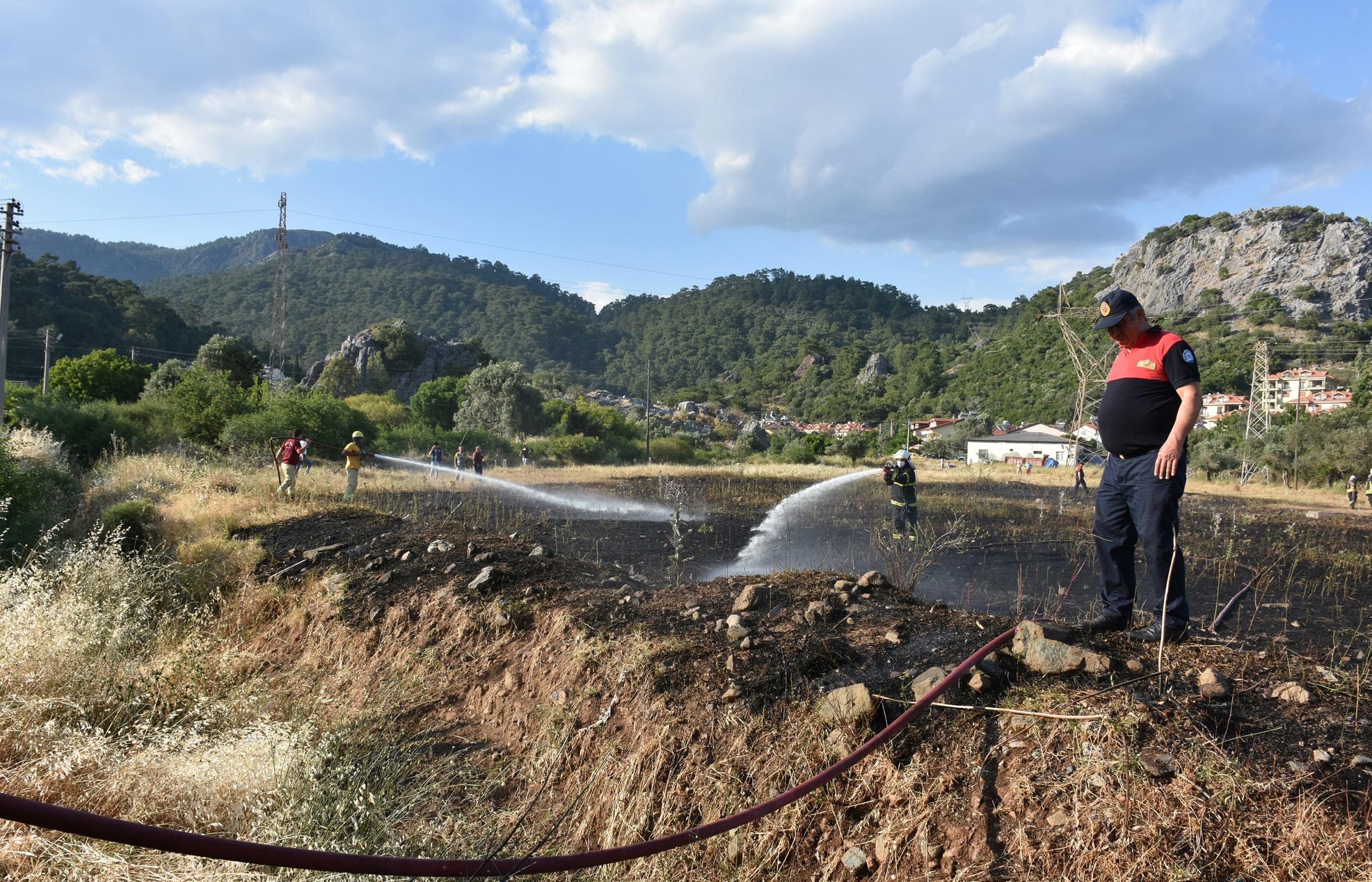 Kısa devre yapan enerji nakil hattı, 9 bin metrekarelik alanda yangın çıkardı