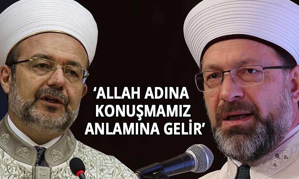 Eski Diyanet İşleri Başkanı Görmez'den Ali Erbaş'ın 'cuma hutbesine' tepki