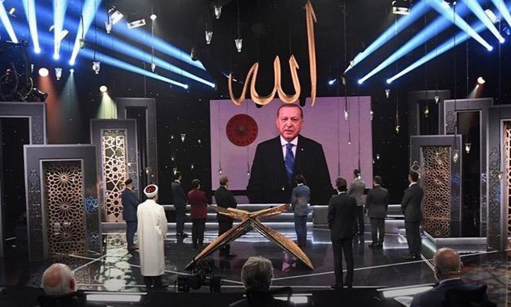 TRT'de el pençe divan görüntü!