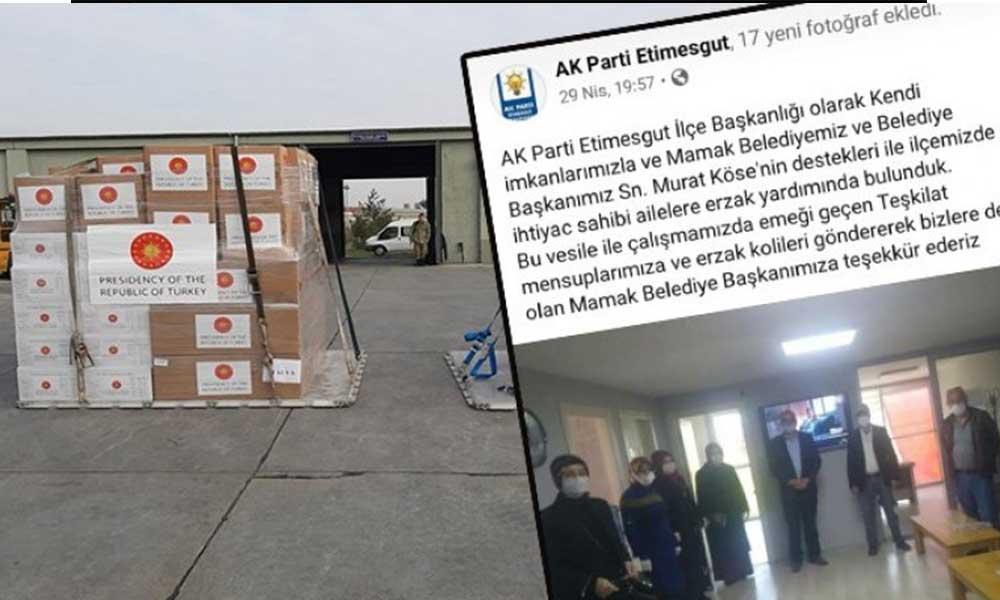 CHP'ye yasaklanan yardımlar AKP'nin reklam aracına dönüştü