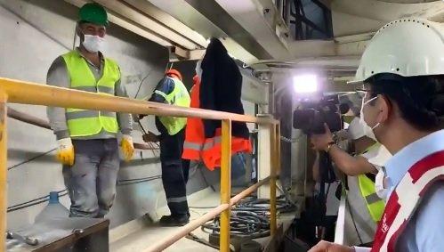 İmamoğlu 'Göztepe-Ümraniye' metro inşaatının sıfır noktasına indi