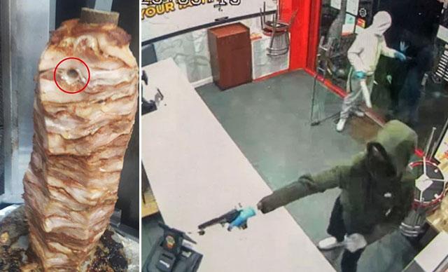 Kebapçı dükkanına silahlı saldırıda çalışanlar ölü taklidi yaparak kurtuldu