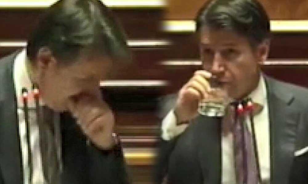 İtalya Başbakanına kürsüde büyük tepki: Konuşmasını sonlandırdı